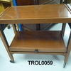 1950's 2 Tier Teak Pull Out Tray Trolley On Castors  (50s)