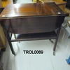 Mahogany Drop Side 2 Tier Trolley On Castors