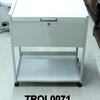 White Filing Trolley On Castors