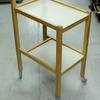Pale Oak 2 Tier Beige Laminate Shelf Trolley