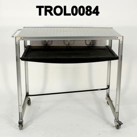 Black & Steel Frame 2 Tier Mobile Computer Trolley