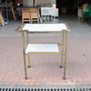 Aged Gilt & Solid Marble Shelf 2 Tier Serving Trolley