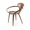 Curved Walnut 'cherner' Chair With Arms