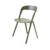Polished Green Pila Dining Chair