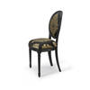 Black/Gold Ornate Dining Chair