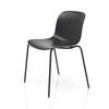Black Wood Troy Dining Chair With Patterned Back