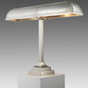 Large Pewter Trough 'bankers' Table Lamp