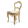 Lightwood Victorian Dining Chair With Distressed Silk Seat  (, Vintage)
