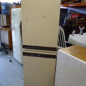163 X 50 Electra Brown And Cream Fridge Freezer