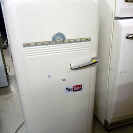 50'S White Kelvinator Fridge