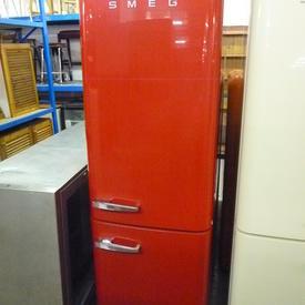 193Cm X 60Cm X 67Cm Tall Red Smeg Fridge/Freezer