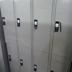 6' X 2' X 1'   Pale Grey Metal 4 Door Locker