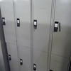 6' X 1' X 1'   Pale Grey Metal 2 Door Locker