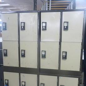 Brown & Cream Bank Of 4 Door 2' X 2'  Lockers