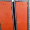 6' X 1' X 1' Graphite/Red 'silverline' 2 Door Metal Locker