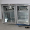 230cm Wx47cm Dx86cm H S/Steel Glass Fronted Low 4 Door Fridge