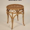 Circ Bamboo And Rattan Low Stool