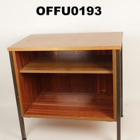 Teak & Metal Leg Low Open Front Unit  (50S)