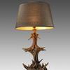 Dark Brown Resin Antler Table Lamp