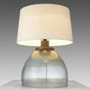 Mettalic Blue & Gold Wide Table Lamp & Shade