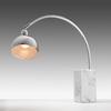 Chrome  Arc   Table Lamp On Marble Base
