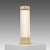 Brass & Glass Ribbed Pillar Table Lamp