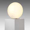 White Glass Round Flat Lamp With Blue Flex
