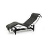 Black Leather & Chrome Le Corbusier Chaise