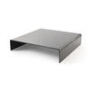 Square Curved Black Glass Rialto Coffee Table