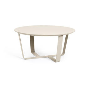 Light Grey Circular Coffee Table on Cross Base