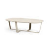 Rs Light Grey Rect Curved  Coffee Table On Cross Base