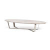 Rs Light Grey Oval Coffee Table On Cross Base