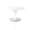 White Glass & White Tulip Base Circular Coffee Table