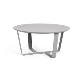 Dark Grey Circular  Coffee Table on Cross Base