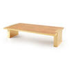 Maple & Brass Rect. Coffee Table