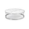 Medium Circ Chrome Framed Coffeetable With Marble Top