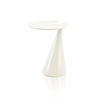 White Lacquer Spiral Cafe Table (70 Cm H X 52 Cm)