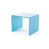 Turq. Bent Glass Side Table (45 Cm H X 55 Cm X 50 Cm)