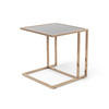 Rose Gold & Black Square Glass Lamp Table (48cm X 48cm X 51cm H)