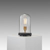 Small Glass Domed Bell Jar Table Lamp On Wooden Base Sent With Filament Bulb £10.00/Charge If Not Returned