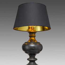 Aged Black Wood Traditional Table Lamp (Shade Not included)