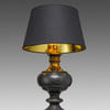 Aged Black Wood Traditional Table Lamp & Shade