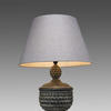 Aged Wood Acorn Table Lamp & Shade