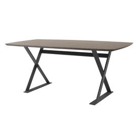 "Dark Wooden Rounded Edge ""Ditex"" Dining Table"