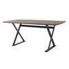 "Dark Wooden Rounded Edge ""Ditex"" Dining Table ( H: 76cm L: 180cm W: 91cm )"