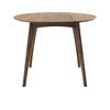 Circular Walnut 'osso' Dining Table (120 Cm X 83 Cm)