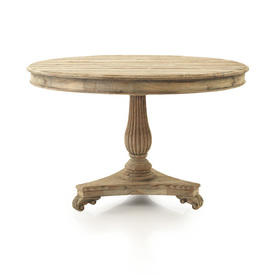 Colonial Distressed Wood Circular Dining Table