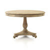 Colonial Distressed Wood Circular Dining Table ( H: 77cm Diam: 120cm)