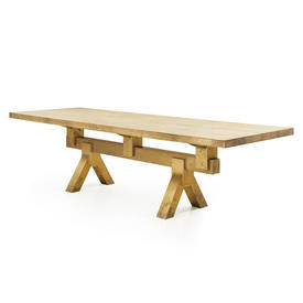 """Rect Brass """"Mass"""" T.D Dining Table"""