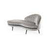 Grey Vintage Velvet 'biarritz' Chaise Lounge